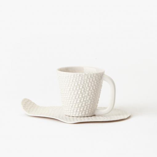 Taza y plato textil 2
