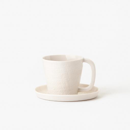 Taza y plato textil 1