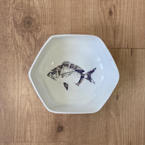 Cuenco hexagonal pez